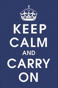 Keep Calm (navy) by Vintage Reproduction