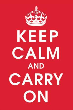 Keep Calm (Red) by Vintage Reproduction