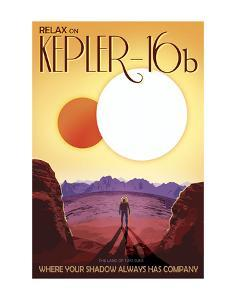 Kepler-16b by Vintage Reproduction