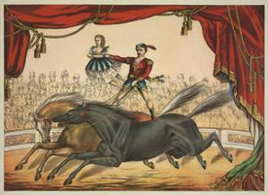 The Two Horse Act by Vintage Reproduction