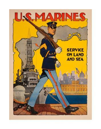 US Marines Want You Baltimore American USA US Vintage Repro Poster FREE SHIP