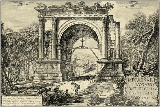 Vintage Roman Ruins II-Giovanni Piranesi-Art Print