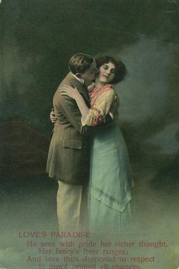 Vintage Romantic Poatcard--Giclee Print