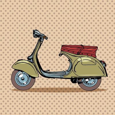 Vintage Scooter Retro Transport-Valeriy Kachaev-Art Print