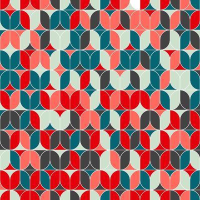 Vintage Seamless Geometrical Colorful Pattern. Texture Background for Web, Print, Home Decor, Texti-Svetlana Lukoyanova-Art Print