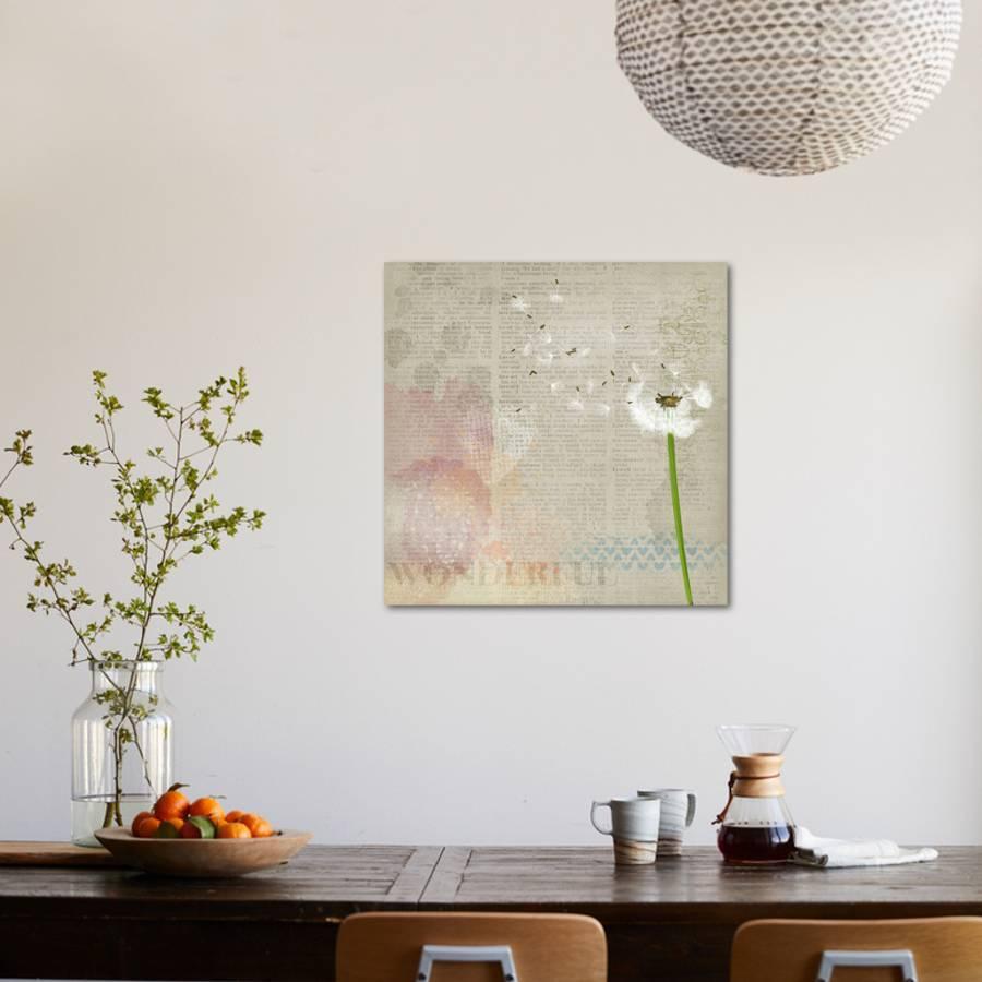 Arbre A Chat Mural Design vintage sheet dandelion art printwonderful dream | art