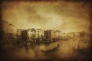 Vintage Shot of Grand Canal, Venice, Italy