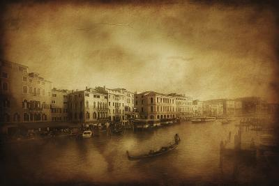 Vintage Shot of Grand Canal, Venice, Italy--Photographic Print