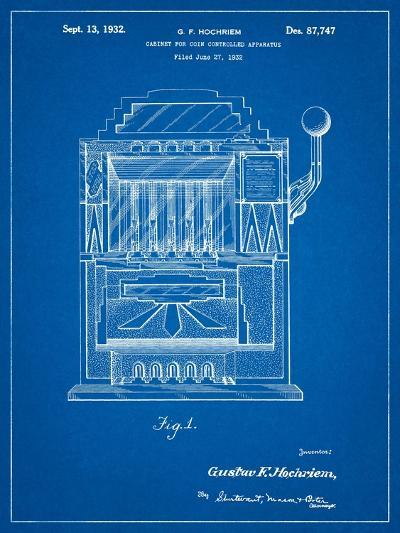 Vintage Slot Machine 1932 Patent-Cole Borders-Art Print