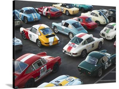 Vintage sport cars at Grand Prix, Nurburgring--Stretched Canvas Print