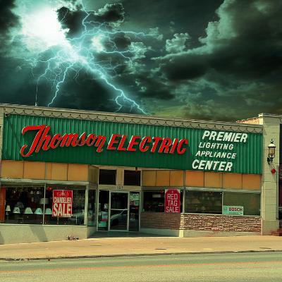 Vintage Street Signage in America for Electrical Shop-Salvatore Elia-Photographic Print