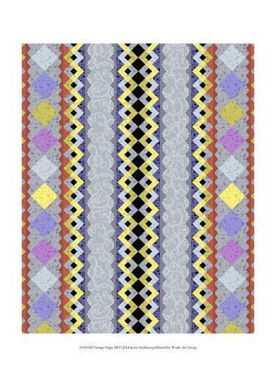 Vintage Stripe III-Katia Hoffman-Art Print