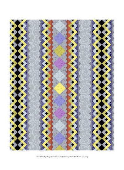Vintage Stripe IV-Katia Hoffman-Art Print
