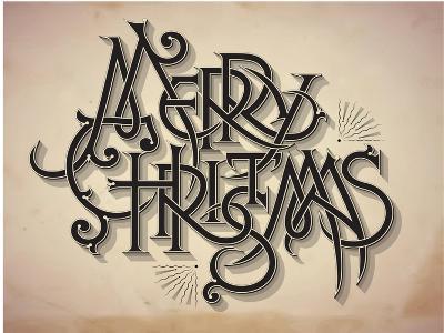 Vintage Style Detailed Christmas Card-traffico-Art Print