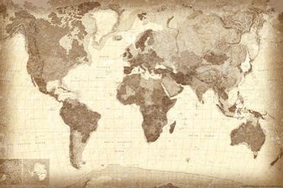 Vintage Looking World Map.Beautiful World Maps Artwork For Sale Paintings And Prints Art Com