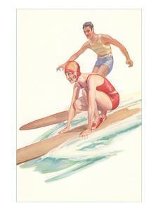Vintage Surfing Illustration