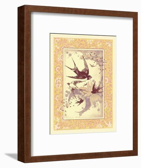 Vintage Swallows--Framed Art Print