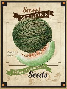 Vintage Sweet Melon Seed Packet