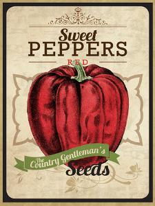 Vintage Sweet Pepper Seed Packet