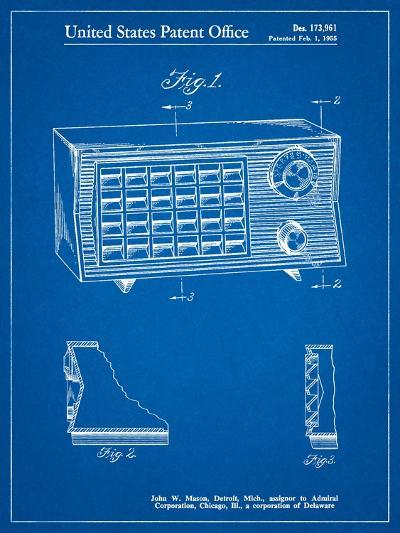 Vintage Table Radio Patent-Cole Borders-Art Print
