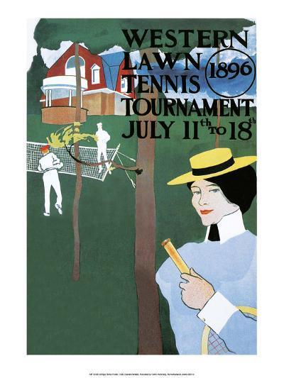 Vintage Tennis Poster, 1896--Art Print