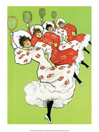 Vintage Tennis Poster, 1900--Art Print