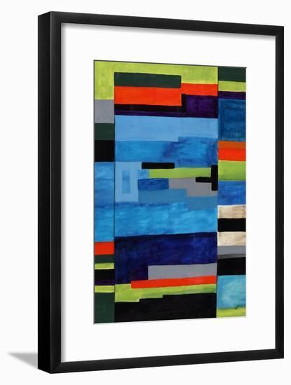 Vintage Tetris-Brent Abe-Framed Premium Giclee Print