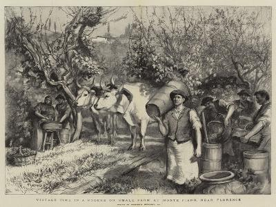 Vintage Time in a Podere or Small Farm at Monte Fiano, Near Florence-Hubert von Herkomer-Giclee Print