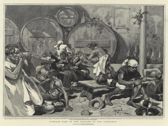 Vintage Time in the Cellars of Old Lombardy--Giclee Print