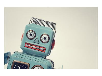Vintage Tin Toy Robot II--Art Print