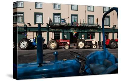 Vintage Tractors Lined Up Outside Lalors Hotel, Dungarvan, County Waterford, Ireland