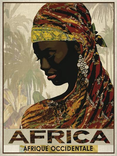 Vintage Travel Africa-The Portmanteau Collection-Art Print