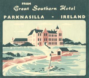 Vintage Travel Label V