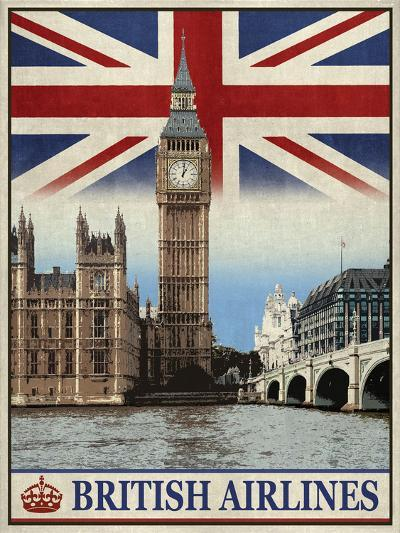 Vintage Travel London-The Portmanteau Collection-Giclee Print