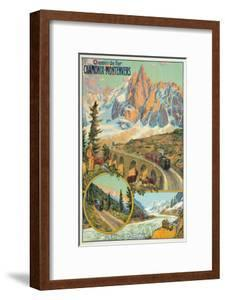 Vintage Travel Poster for Chamonix, France