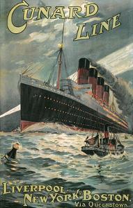 Vintage Travel Poster for Cunard Lines
