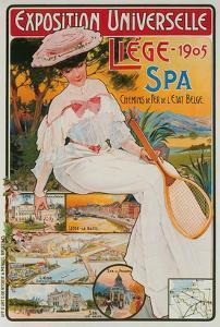 Vintage Travel Poster, Liege Exposition, Belgium