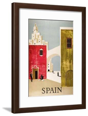 Vintage Travel to Spain--Framed Giclee Print