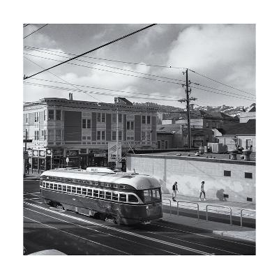 Vintage Trolley, San Francisco-Henri Silberman-Photographic Print