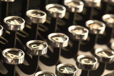Vintage Typewriter Keys Photographic Print by SSilver | Art com