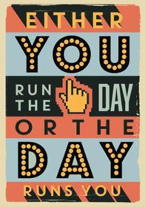 Run the Day by Vintage Vector Studio