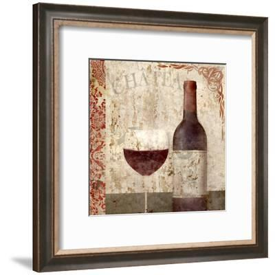 Vintage Wine 1-Kimberly Allen-Framed Art Print