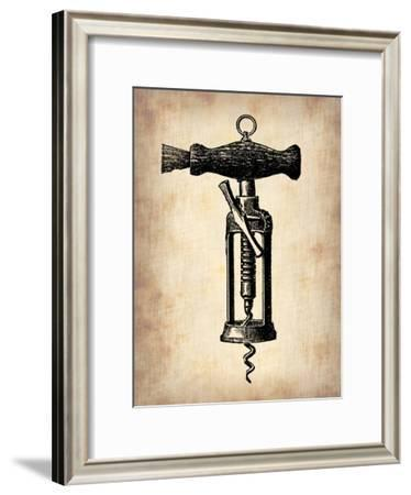 Vintage Wine Opener 4-NaxArt-Framed Art Print