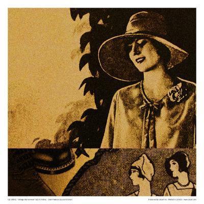 Vintage Womenwear 1925 II (Yellow)-Jean-Fran?ois Dupuis-Art Print