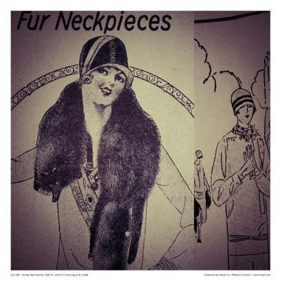 Vintage Womenwear 1925 III-Jean-Fran?ois Dupuis-Art Print