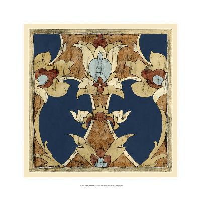 Vintage Woodblock IV-Chariklia Zarris-Art Print