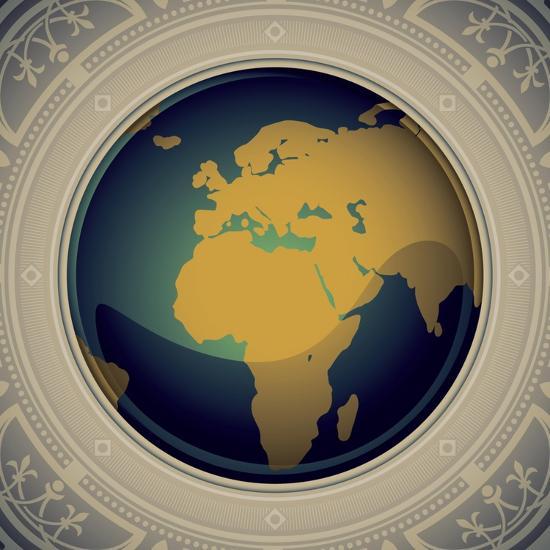 17415c7a2e5b Vintage World Map Designed Banner Art Print by Rashomon