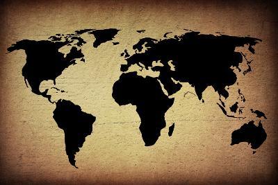 Vintage World Map-ilolab-Art Print