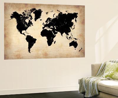 Vintage World Map-NaxArt-Wall Mural