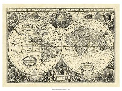 Vintage World Map Art.Vintage World Map Art Print By Art Com